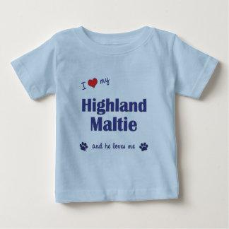 I Love My Highland Maltie (Male Dog) Tshirt