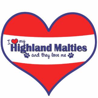 I Love My Highland Malties (Multiple Dogs) Statuette