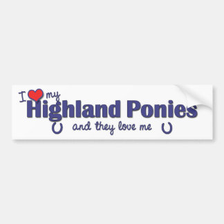 I Love My Highland Ponies (Multiple Ponies) Bumper Sticker