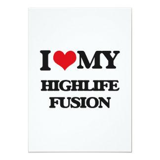 "I Love My HIGHLIFE FUSION 5"" X 7"" Invitation Card"