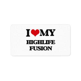 I Love My HIGHLIFE FUSION Custom Address Label
