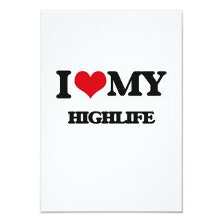 "I Love My HIGHLIFE 3.5"" X 5"" Invitation Card"