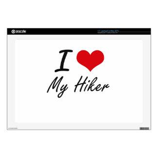 I Love My Hiker Laptop Skins