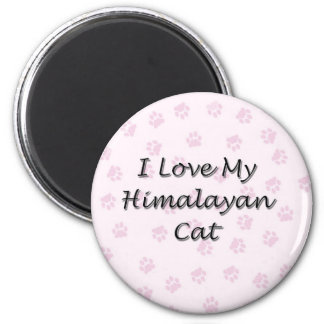 I Love My Himalayan Cat 2 Inch Round Magnet