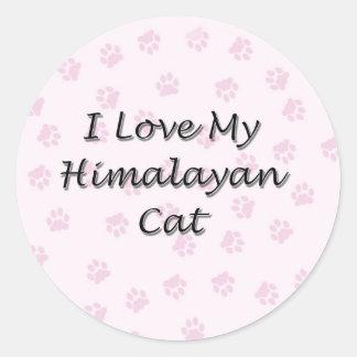 I Love My Himalayan Cat Classic Round Sticker