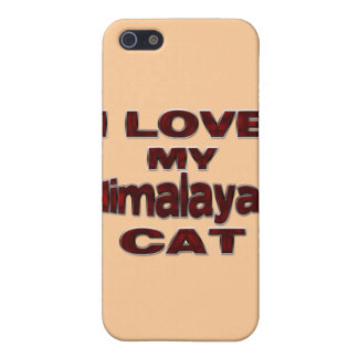 I LOVE MY HIMALAYAN CAT drk rd iPhone SE/5/5s Case