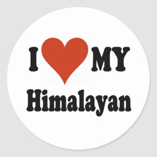 I Love My Himalayan Cat Gifts and Apparel Classic Round Sticker