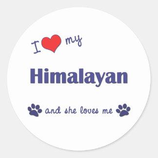 I Love My Himalayan (Female Cat) Classic Round Sticker