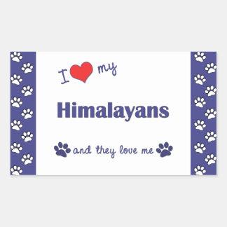 I Love My Himalayans (Multiple Cats) Rectangular Sticker