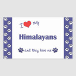 I Love My Himalayans (Multiple Cats) Sticker