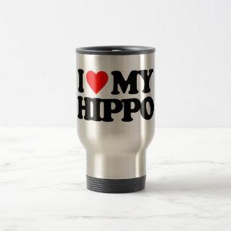 I LOVE MY HIPPO 15 OZ STAINLESS STEEL TRAVEL MUG