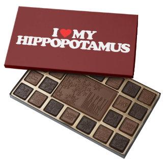 I LOVE MY HIPPOPOTAMUS 45 PIECE BOX OF CHOCOLATES