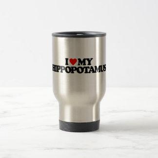 I LOVE MY HIPPOPOTAMUS TRAVEL MUG