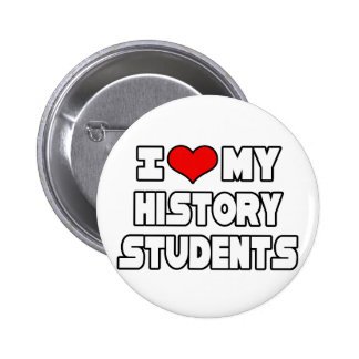 I Love My History Students Pins