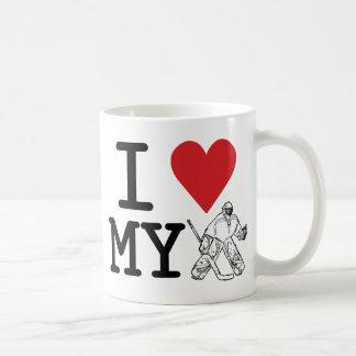 I Love My Hockey Goalie Coffee Mug