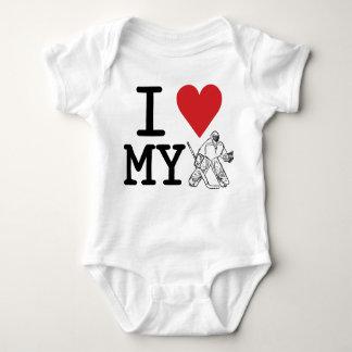 I Love My Hockey Goalie Infant Apparel Baby Bodysuit