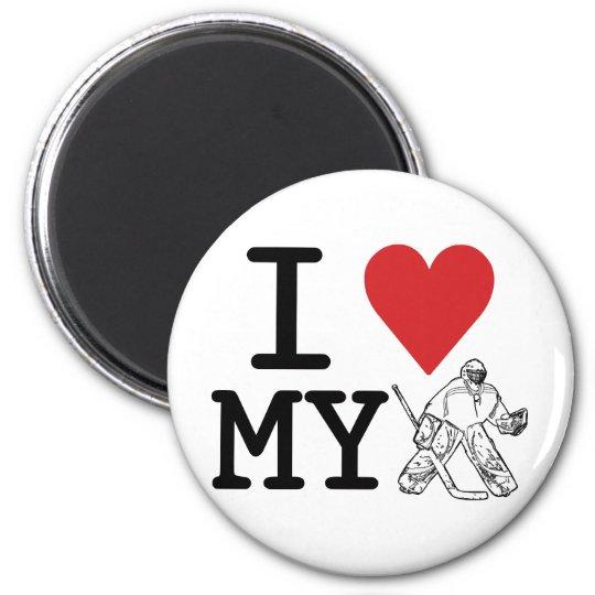 I Love My Hockey Goalie Magnet