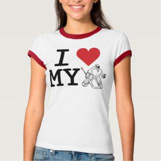 I Love My Hockey Goalie T-Shirt, Back Print Tee Shirt