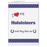 I Love My Holsteiners (Multiple Horses) Stationery Note Card
