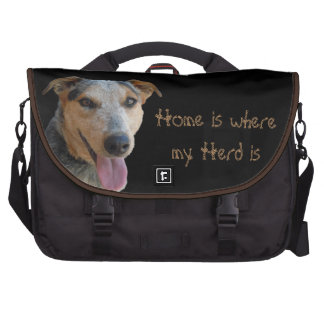 I Love My Home with My Herd Cattle Dog Western Commuter Bag