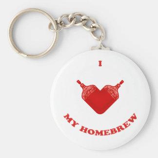 I Love My Homebrew Keychain