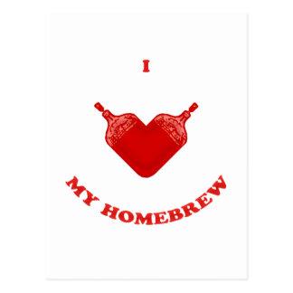 I Love My Homebrew Postcard