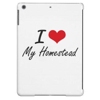 I Love My Homestead iPad Air Covers