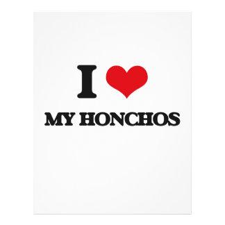 "I Love My Honchos 8.5"" X 11"" Flyer"