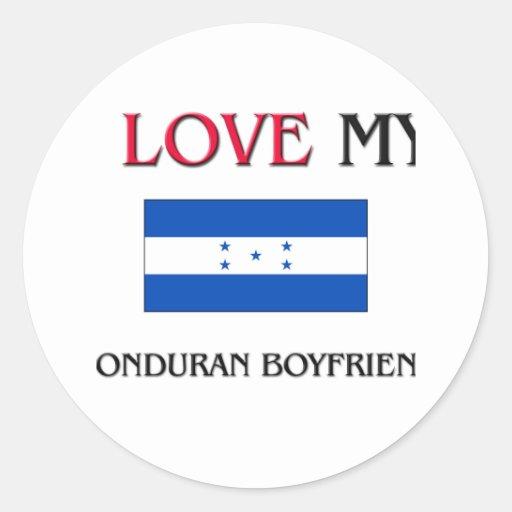 I Love My Honduran Boyfriend Sticker