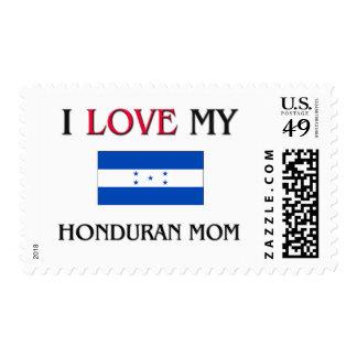 I Love My Honduran Mom Postage Stamp