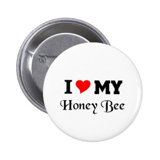 I love my Honey Bee Pinback Button