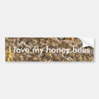 I love my honey bees bumper sticker