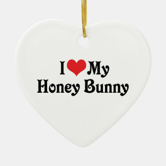I Love My Honey Bunny Christmas Tree Ornament