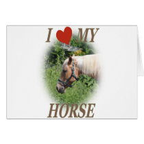 I love my horse card