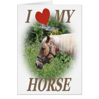I love my horse card