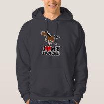I love my HORSE Dark Grey Hooded Sweatshirt