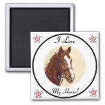 I Love My Horse! Equestrian Magnet
