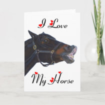 I Love My Horse! Funny Holiday Card