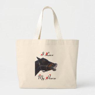 I Love My Horse! Funny Jumbo Tote Bag