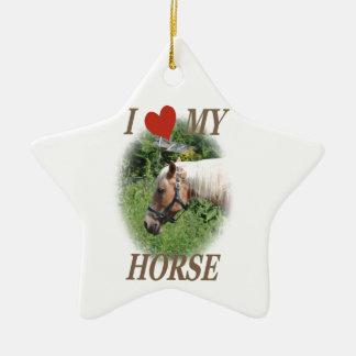 I love my horse christmas ornaments