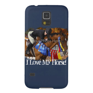 I Love My Horse Photo Template Galaxy S5 Case