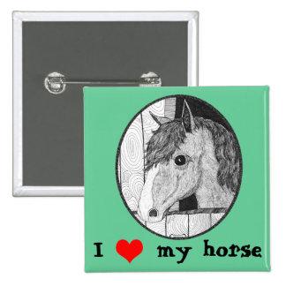 I love my horse pin