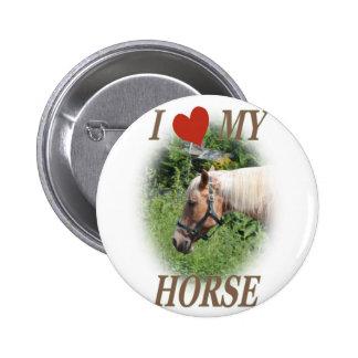 I love my horse pinback button