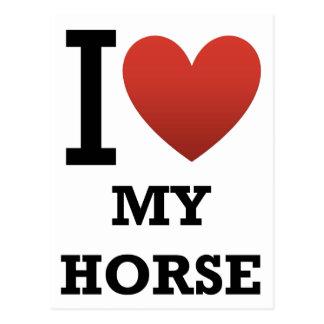 I Love My Horse Postcard