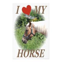 I love my horse stationery