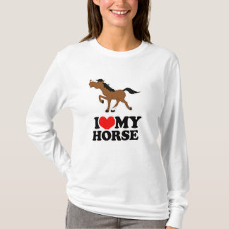I love my HORSE WHITE Fitted Hoodie
