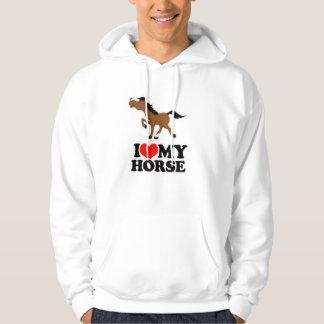 I love my HORSE WHITE Hooded Sweatshirt