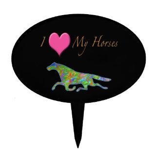"""""""I Love My Horses"""" Design Cake Picks"""