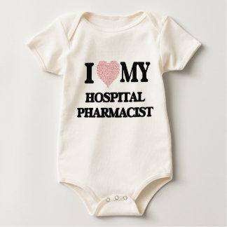 I love my Hospital Pharmacist (Heart Made from Wor Baby Bodysuit