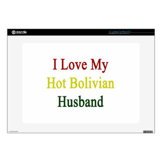 I Love My Hot Bolivian Husband Laptop Decals